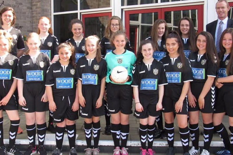 JW Wood and Durham WFC have teamed up to support girls' football in two secondary schools