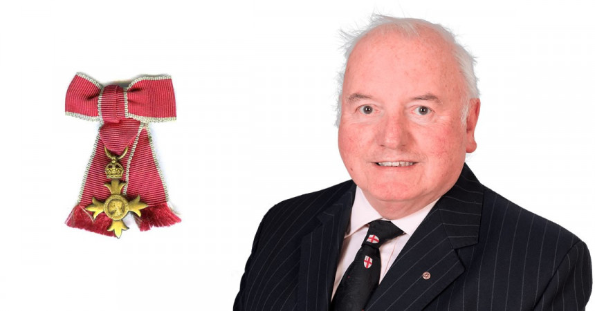 Keith Johnson, Chairman of JW Wood is awarded MBE for his charity work