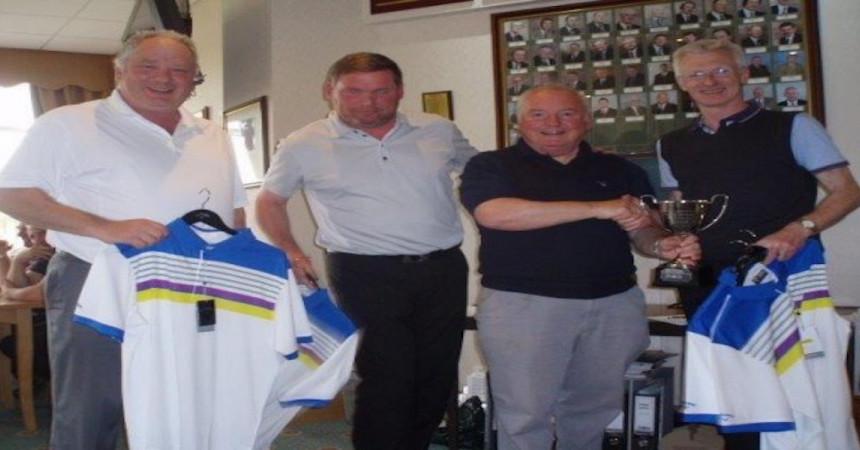 JW Wood chairman presents Golf Cup