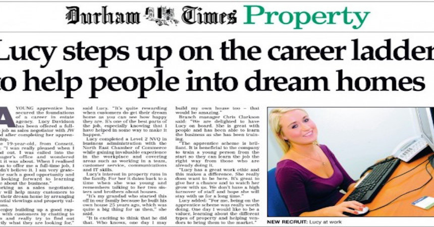 Lucy steps up on the career ladder
