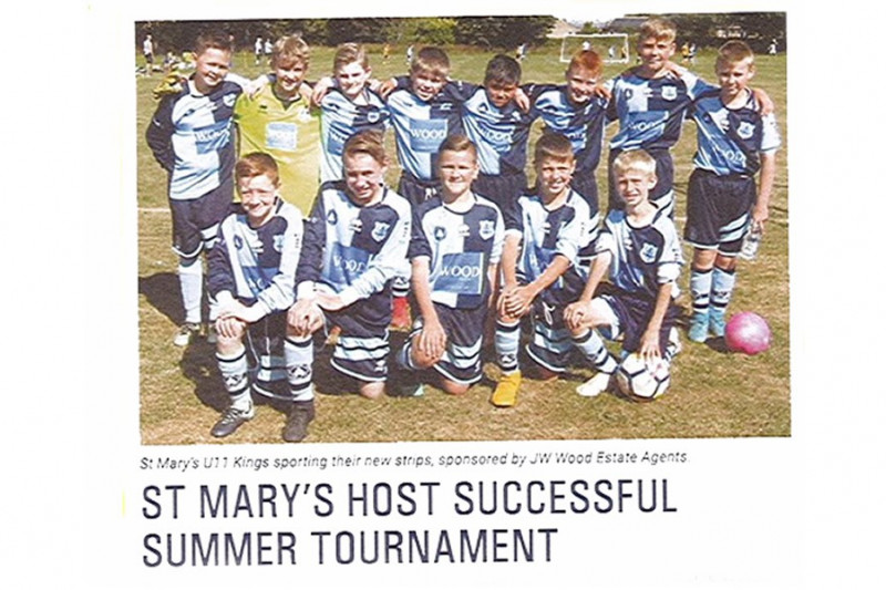 Success for JW Wood Sponsored Junior Football Club
