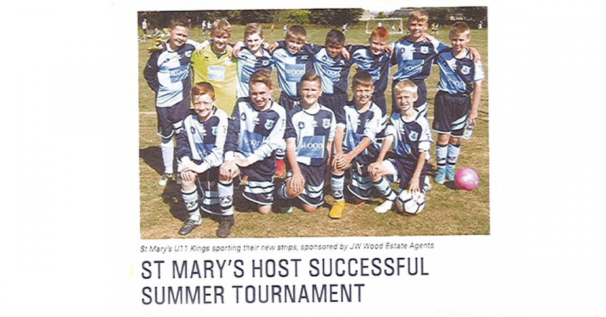 Success for JW Wood Sponsored Junior Football Club