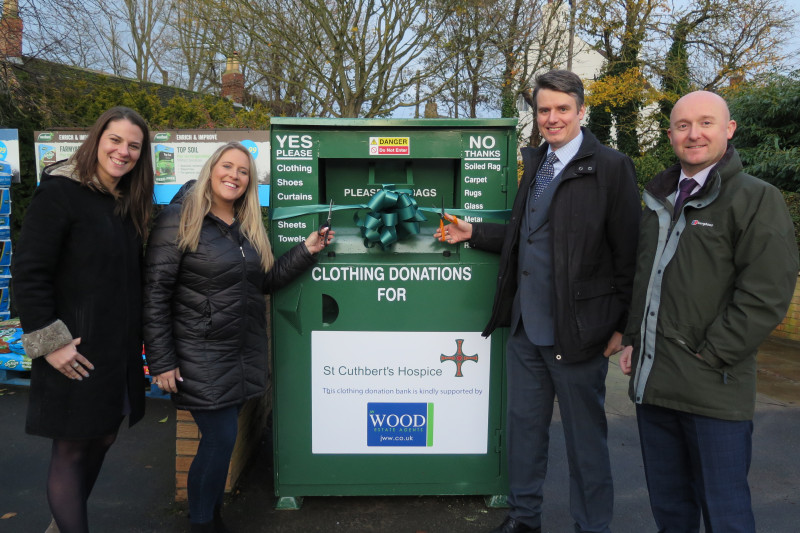 Hospice unveils first clothing bank with thanks to local businesses
